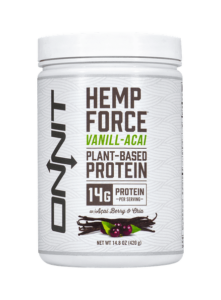 onnit hemp force vanill-acai plant based protein