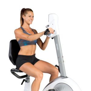 recumbent bike with upper body workout