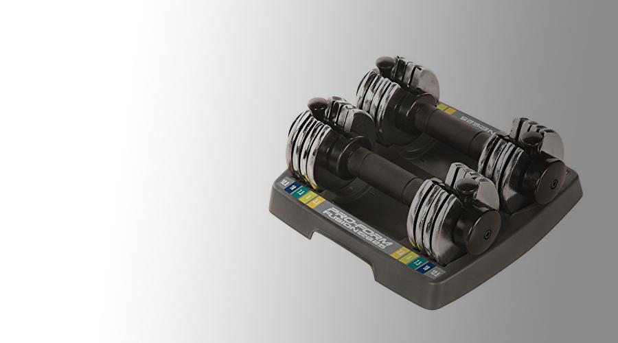 551ba554350 ProForm Adjustable Dumbbell Set  REVIEW  25 LB Select A Weight